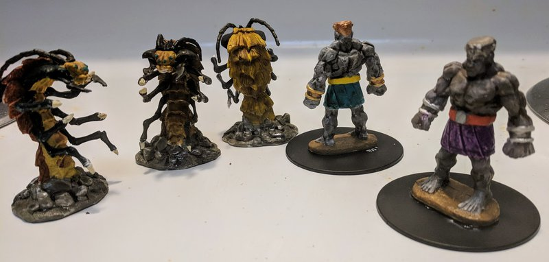 Ankhegs and Golems